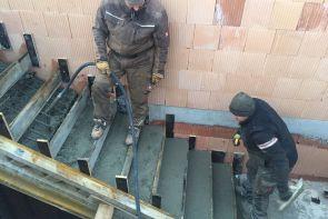 Železobetonová konstrukce - Golčův Jeníkov - přístavba školy